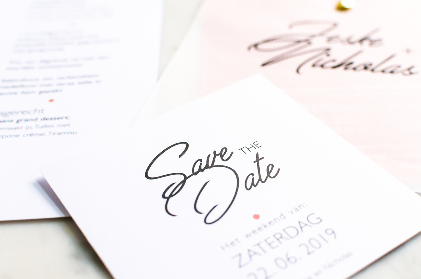 Studio Spruijt wedding invitation
