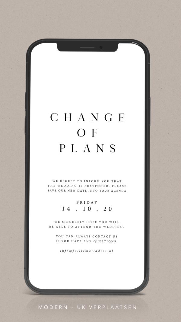 Change of Plans aankondiging