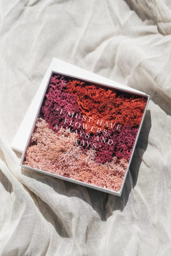 Edenique x Studio Sprujt, Plexiglas kaart met bloemen