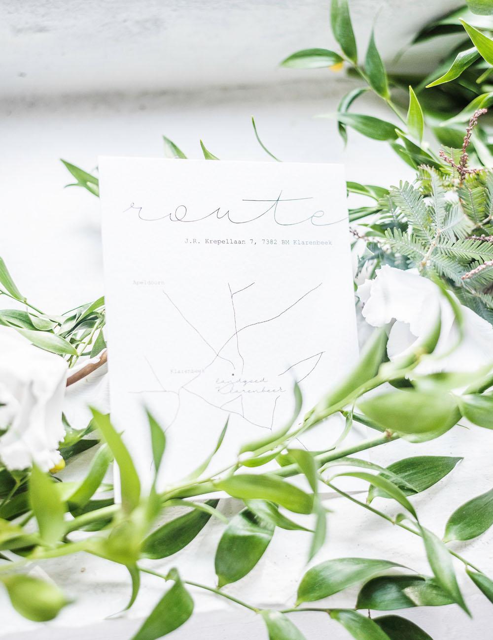 Studio Spruijt Minimal trouwkaart op maat
